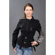 Стильная куртка с поясом фото