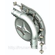 Поворотный угол для системы раздачи корма нж-сталь, колесо чугун фото