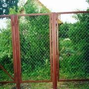Заборные секции, ворота, калитки из сетки фото