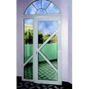 Дверь балконная из ПВХ фото
