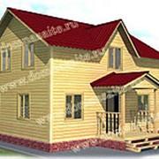 Деревянный дом из бруса «Д-07» 6х8м фото