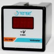 Электронный вольтметр TENSE щитовой панельный 48х48 фото