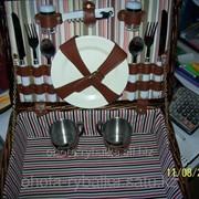 Набор для пикника в корзине фото
