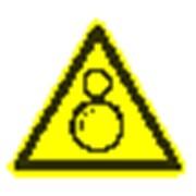 Предупреждающий знак, код W 2 9 Осторожно. Возможно затягивание между вращающимися элементами фото