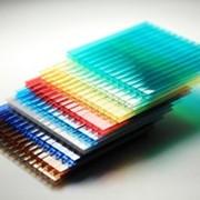Сотовый поликарбонат 06мм бронза, зеленый, синий, белый, желтый, красный, бирюза фото