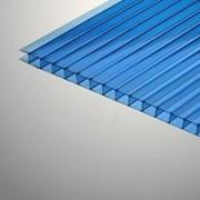 Поликарбонат сотовый 12000х2100х4 синий фото