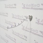 Вешало на стену d-9 изогнутое 7 штырьков, L=310мм, (осн. сердечко), хром, TE03-310 фото