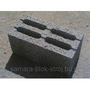 Блок керамзитобетонный 390х190х190, пустотность 30% ГОСТ 6133-99 фото