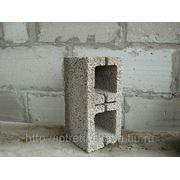 Керамзитобетонный блок (облегченный)190*390*190 фото