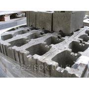 Блок керамзитобетонный пустотелый рядовой 390х190х188 фото