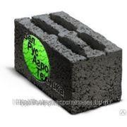 Блок керамзитный стеновой пустотелый четырехщелевой СКЦ-1 ГОСТ 6133-99 КСР-ПР-ПС-39-75-F25-1100 фото