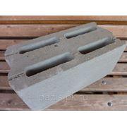 Блок керамзитобетонный пустотелый пазогребневый 400х190х188 фото