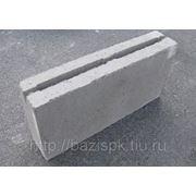 Блок бетонный пустотелый перегородочный 390х90х188 фото