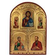 "Икона ""Иисуса Христа и апостолов Петра и Павла"" 26*36см (уп.1/1шт.) фото"