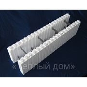 Блок пенополистирольный стеновой сборный БСC-С М 20 (несъемная опалубка) размер 1000*250*250 фото