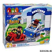 Конструктор пластиковый для малышей полиция 21-3404 фото