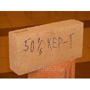 Блок строительный перегородочный керамзитобетонный (50% керамзита) полнотелый фото