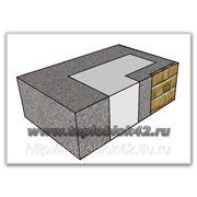 Блок угловой внутренний проемный с фактурой, цветной фото