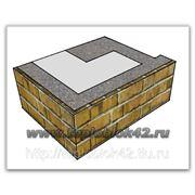 Блок угловой наружный проёмный оконный с фактурой, цветной фото