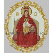 Икона 51 Державная Божия Матерь в круге-дизайн для машинной вышивки фото