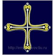 Крест 06 -дизайн для машинной вышивки фото