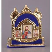 """Икона """"иконостас тройной""""флок 27*7*30 см. (698966) фото"""