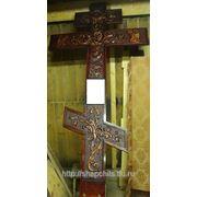 Изготовим надгробные резные кресты фото
