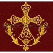 Крест 07 -дизайн для машинной вышивки фото