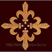 Крест 09 Лилия -дизайн для машинной вышивки фото