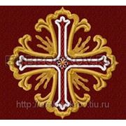 Крест 01 Лучистый -дизайн для машинной вышивки фото