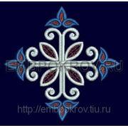 Крест 18 -дизайн для машинной вышивки фото