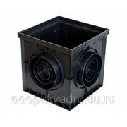 Дождеприемный колодец пластиковый 300х300 черный фото