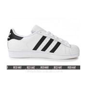 Кроссовки Adidas SuperstarWhite/Black/Gold арт. 23183 фото