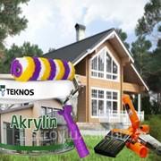Краска для домов Akrylin Teknos, Финляндия фото
