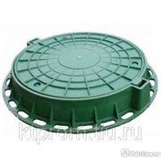 Люк газонный пластиковый D800 зеленый фото
