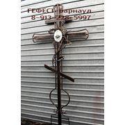 Крест надгробный кованый. фото
