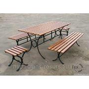 Скамейки столы метталлические, садовые фото