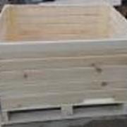 Контейнер яблочный деревянный. фото