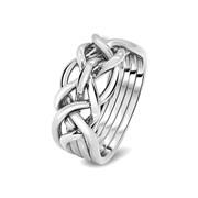 Мужское серебряное кольцо головоломка от Wickerring фото