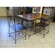 Столы и стулья кованые № 1 фото