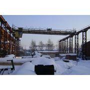 Каркас склада эстакада с мостовым краном фото