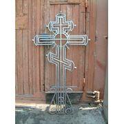 Металлический крест на могилу 5 фото