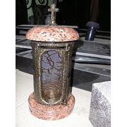 Лампадка из габбро-диабаза резная Коркино памятник с сердцем Кадников