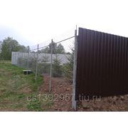 Комбинированный забор фото