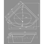 Акриловая ванна JIKA Lucerne 140x140