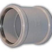 Муфта ПП Ду 110 для внутренней канализации фото