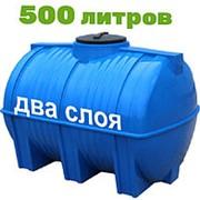Резервуар для хранения пищевых продуктов, питьевой воды и дизеля 500 литров, синий, гор фото
