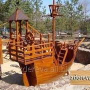 Детская площадка из дерева Корабль 10128 фото