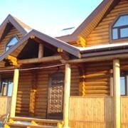 Деревянные дома из оцилиндрованного бревна в Омске фото