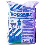 Противогололедный реагент ROCKMELT SALT 25кг фото